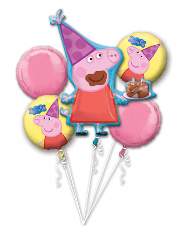 Peppa Pig Foil Balloon Bouquet