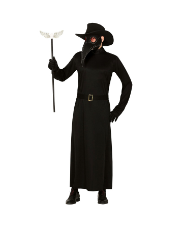 Plague Doctor Men Costume With Beak Mask