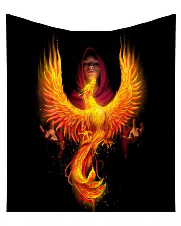 Phoenix Rising Kuscheldecke