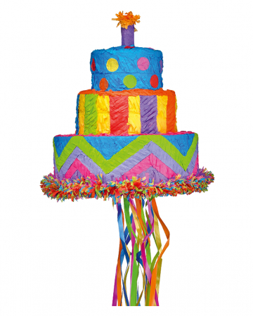 Bunte Geburtstagstorte Pinata 30cm