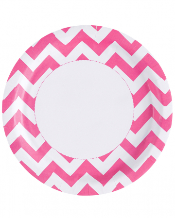 Zick-Zack Pappteller pink 8 St.