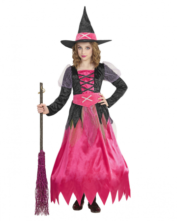 Pink Witch Children Costume With Hoop Skirt