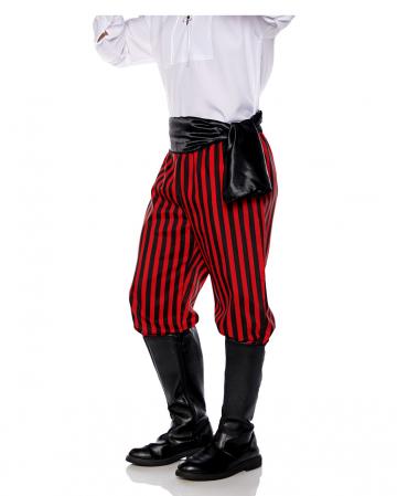 Schwarz-rote Piraten Kostüm Hose