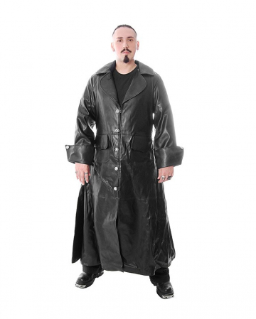 Gothic Pirate Leatherette Coat