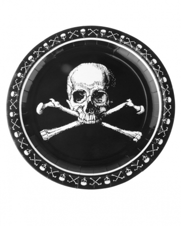 Pirates Skull And Crossbones Paper Plate