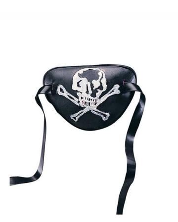 Piraten Augenklappe mit Totenschädel