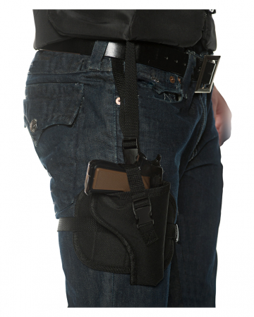 Pistol holster with adjustable strap