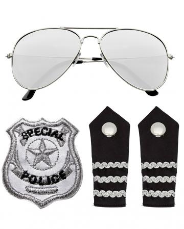 Policemen Costume Accessory Set 4 Pieces