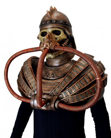Post Apocalyptic Warrior Mask With Chest Armor
