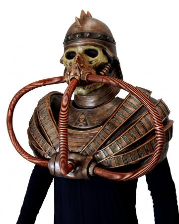 Post Apocalyptische Krieger Maske mit Brustpanzer
