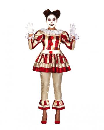 Noble Killer Clown Damen Kostüm für Erwachsene