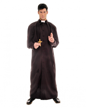 Priester / Hochwürden Kostüm schwarz
