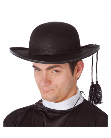 Priest hat with cord