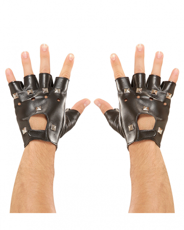 Punkrock & Biker Gloves With Studs