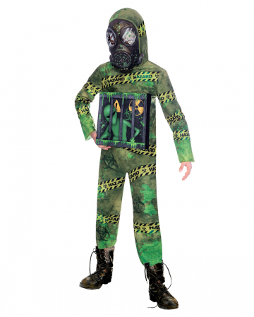 Quarantine Zombie Alien Child Costume