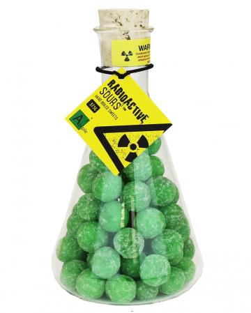 Radioactive Saure Apfel Drops Bonbons im Glaskolben