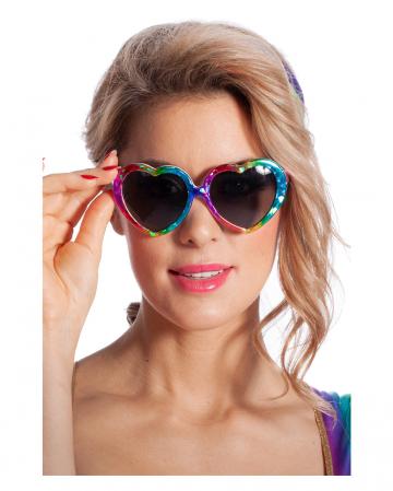 Rainbow Heart Glasses