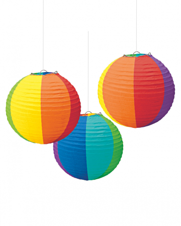 Rainbow Lanterns 3 pcs.