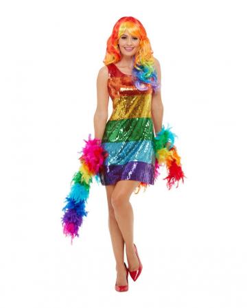 Rainbow Pailletten Glitter Kleid