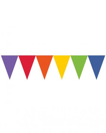 Rainbow pennant garland 450cm