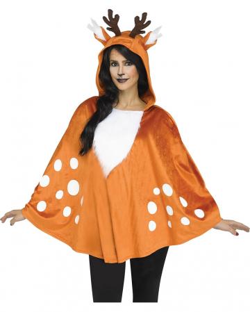 Deer hooded poncho
