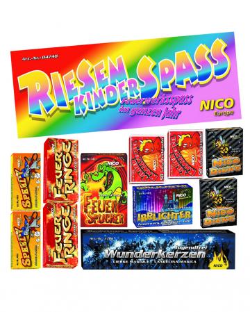 Giant Children's Fun 200 Parts Children's Fireworks