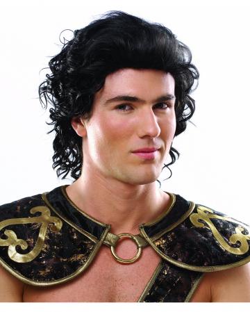 Schwarze römischer Krieger Perücke