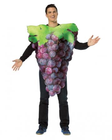 Wine grapes costume blue