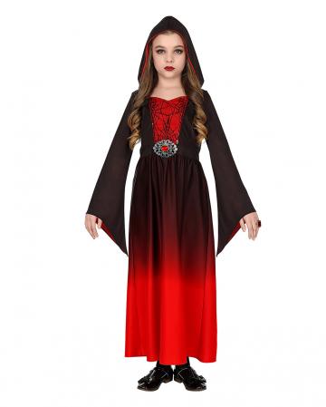 Red Gothic Girl Children Costume