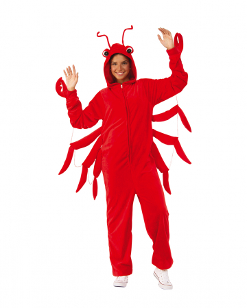 Red Lobster Costume Onesie For Adults