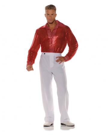 Rotes Pailletten Hemd