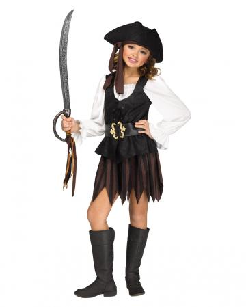 Mädchen Kostüm rustikale Piratin