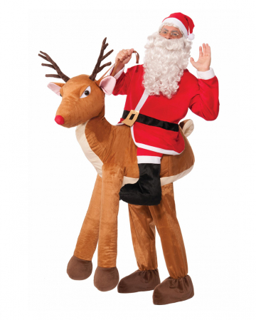 Santa On Reindeer Riding Costume