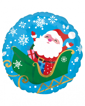 Santa Claus Christmas Foil Balloon