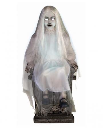 Geistermädchen auf Grabstein Halloween Animatronic