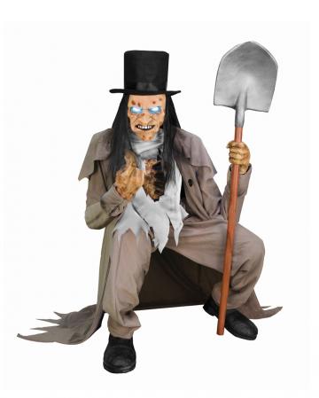 Sitzender Totengräber Halloween Animatronic