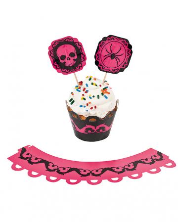 Pinkes Halloween Muffin Set 100 tlg.