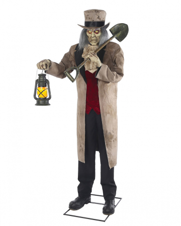 Scary Totengräber mit Lampe Halloween Animatronic