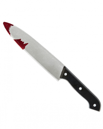 Metzgermesser mit Blutspritzer