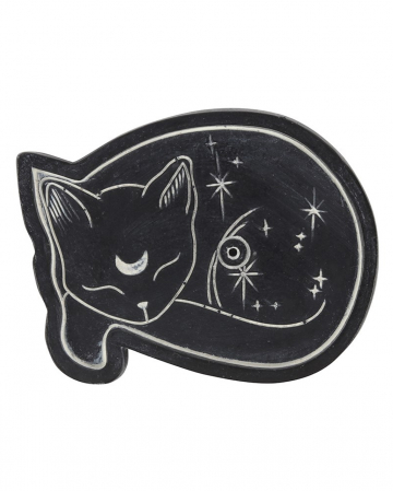 Schlafende Katze Räucherstäbchenhalter