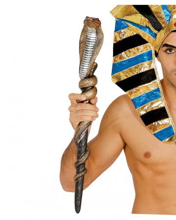 Ägyptisches Zepter mit Schlange