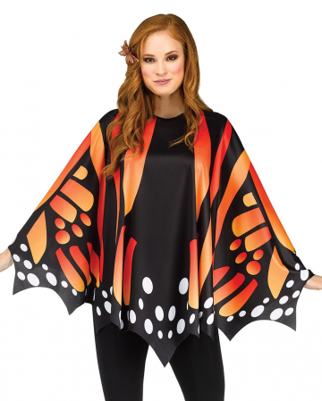 Butterfly Wings Poncho Red