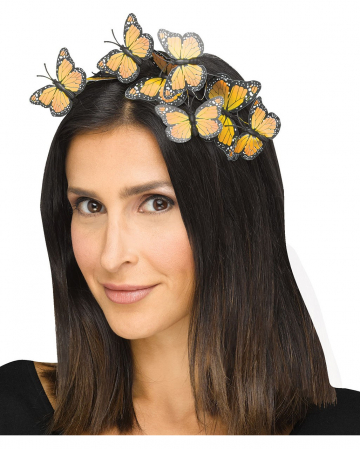 Gelber Schmetterlings Haarreifen