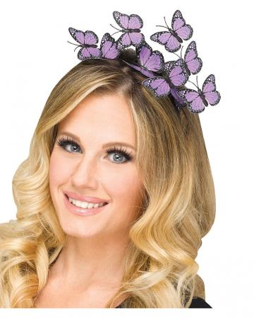 Purple butterfly hairband
