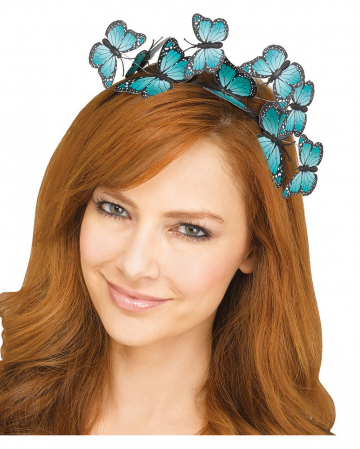 Butterfly hairband turquoise