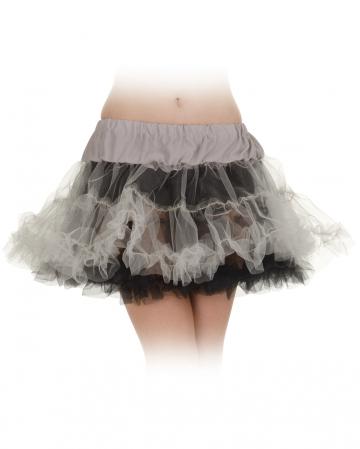 Black-grey Petticoat One Size