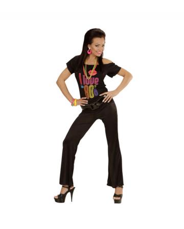Stretch Flare Pants Black