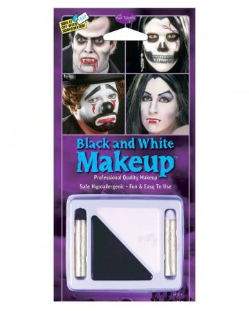 4-tlg.Schwarz-Weiß Make Up Set