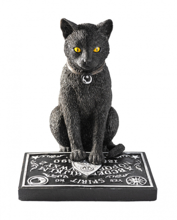 Schwarze Katze mit Hexenbrett