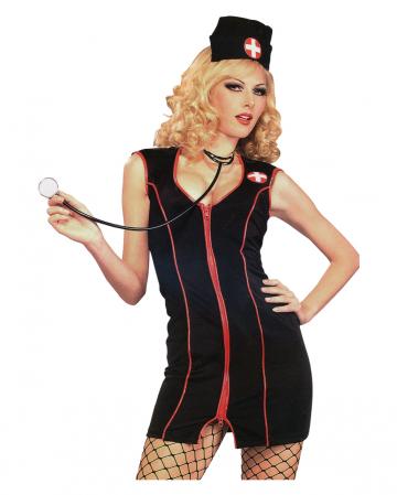 Schwarze Krankenschwester Kostüm